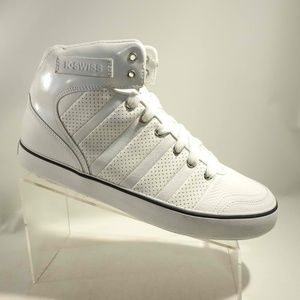 K Swiss Size 10 White Ankle Sneakers Mens L1A16